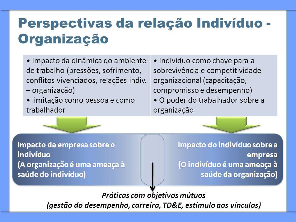 Perspectivas da relação Indivíduo - Organização