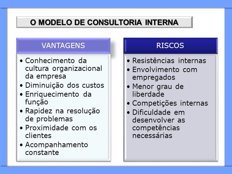 O MODELO DE CONSULTORIA INTERNA