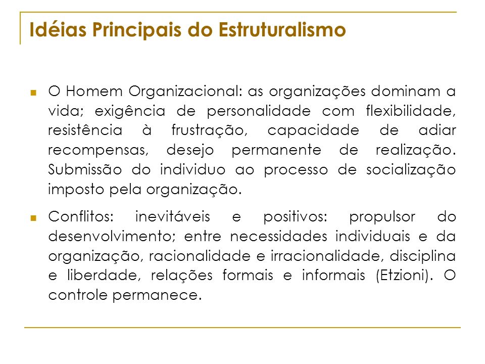 Idéias Principais do Estruturalismo