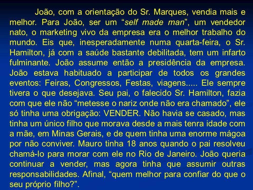João, com a orientação do Sr. Marques, vendia mais e melhor
