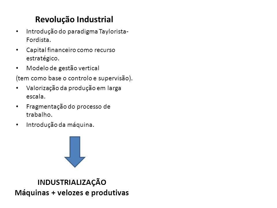Máquinas + velozes e produtivas