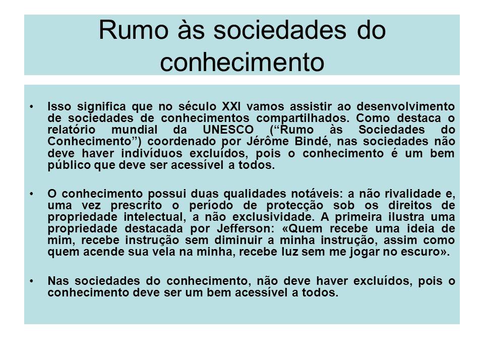 Rumo às sociedades do conhecimento