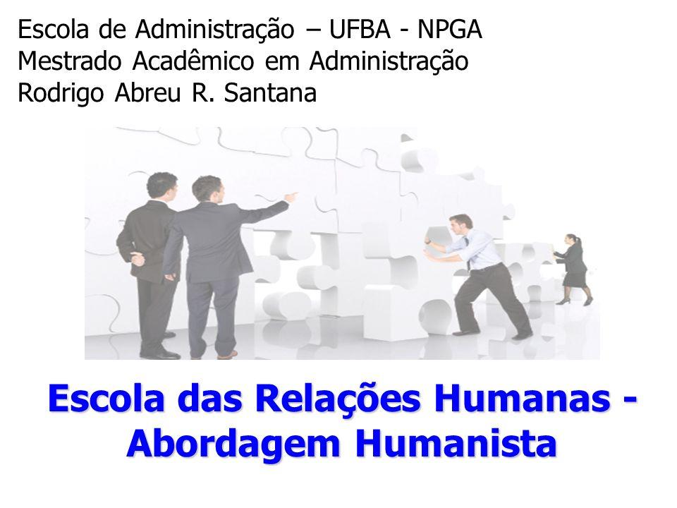 Escola das Relações Humanas -