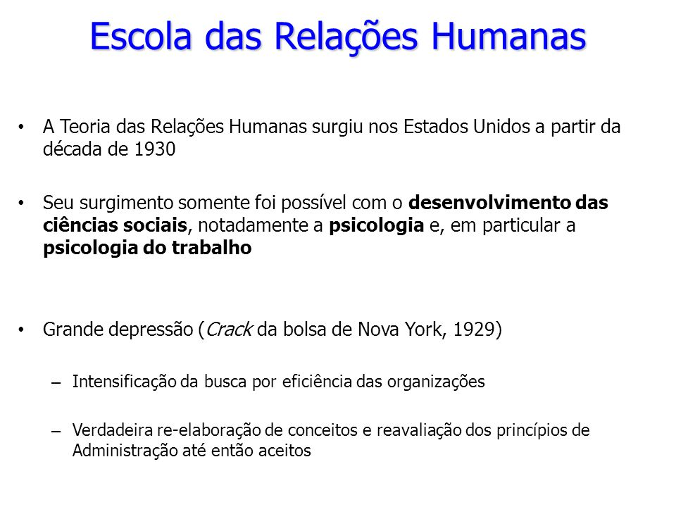 Escola das Relações Humanas