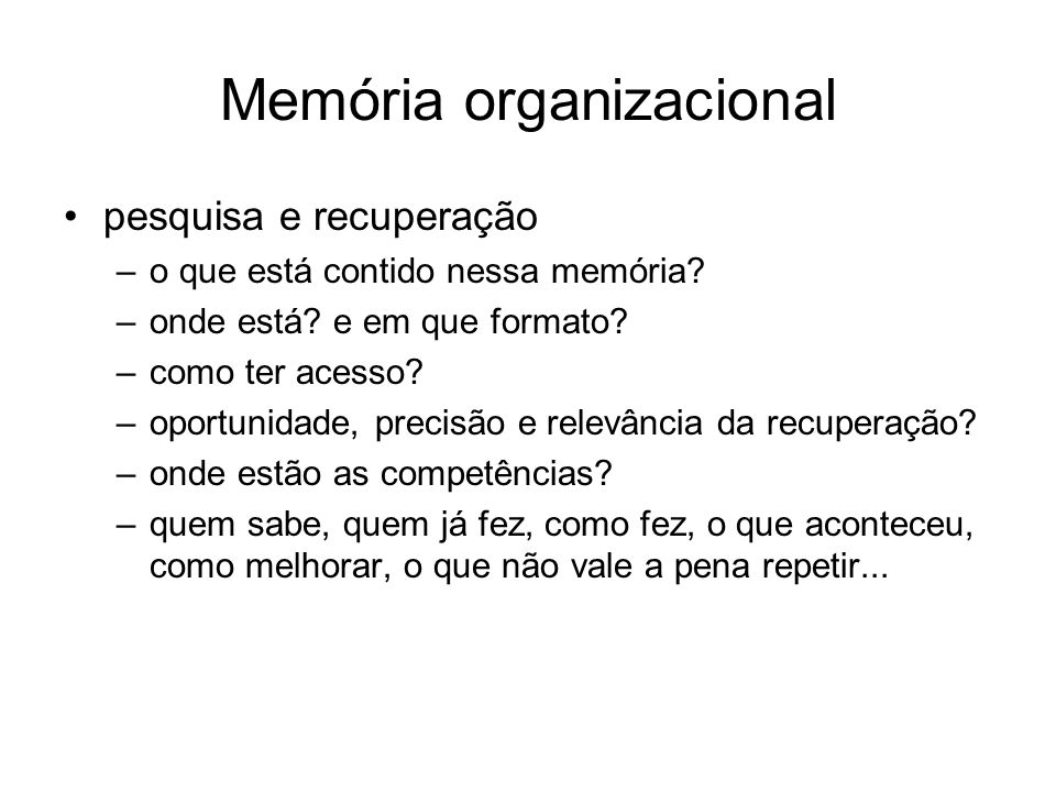 Memória organizacional
