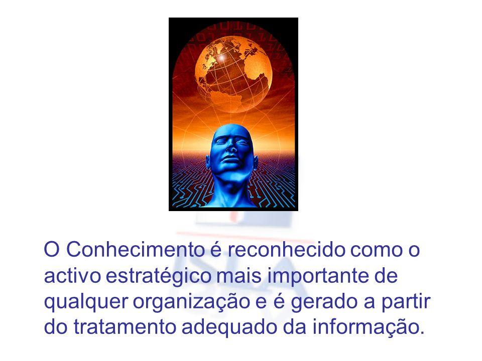 O Conhecimento é reconhecido como o activo estratégico mais importante de qualquer organização e é gerado a partir do tratamento adequado da informação.