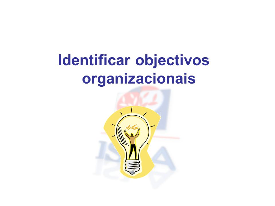 Identificar objectivos organizacionais