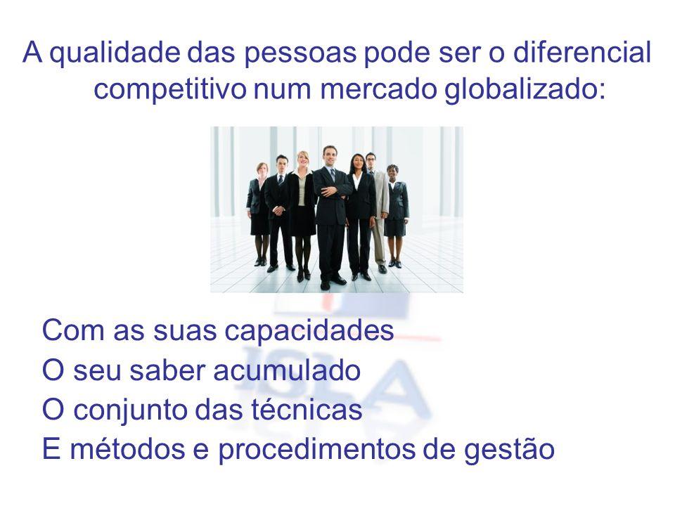 A qualidade das pessoas pode ser o diferencial competitivo num mercado globalizado: