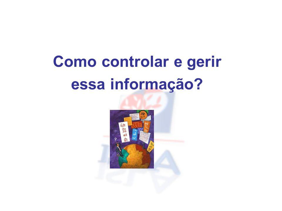 Como controlar e gerir essa informação