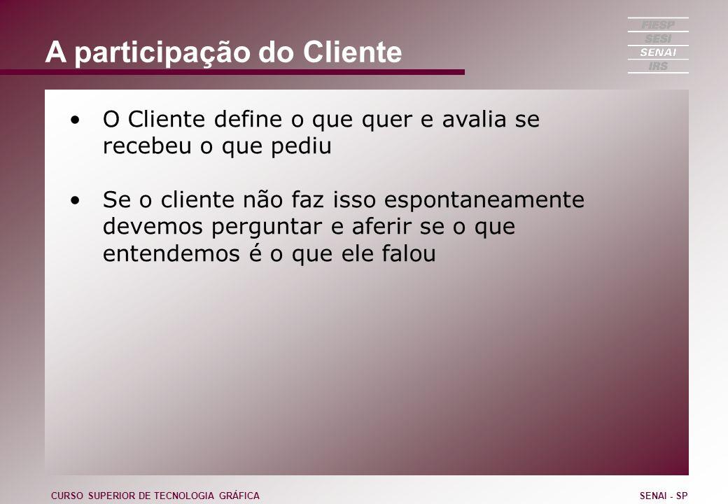 A participação do Cliente