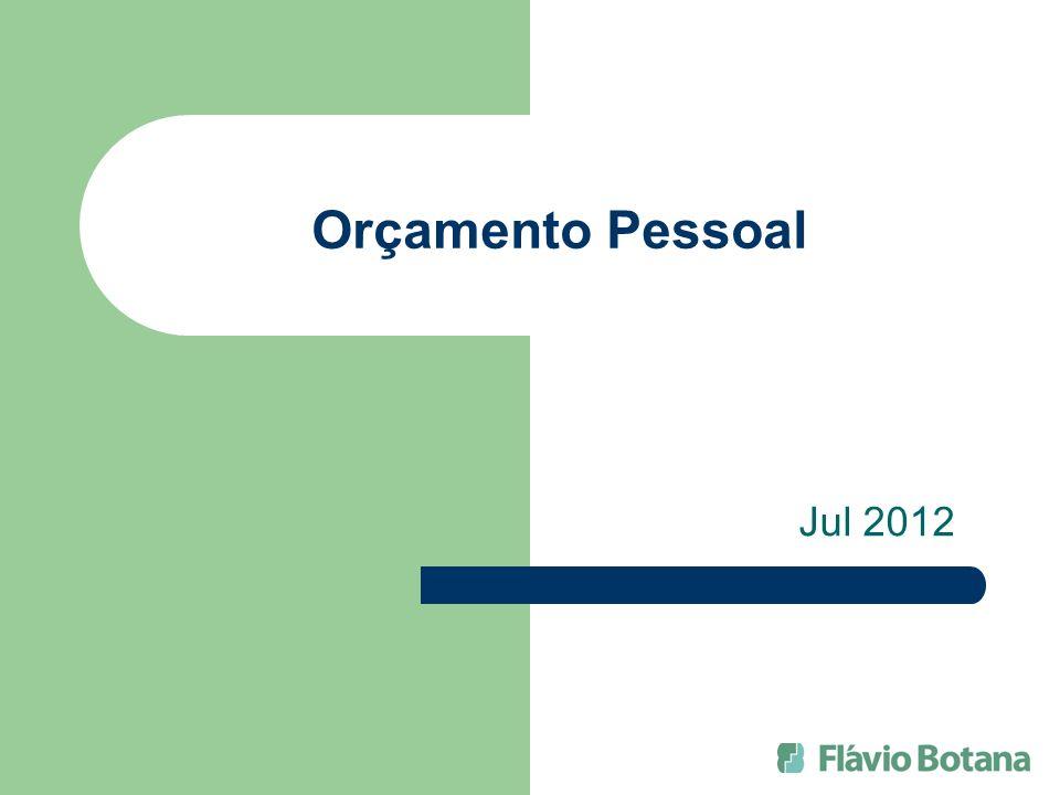 Orçamento Pessoal Jul 2012