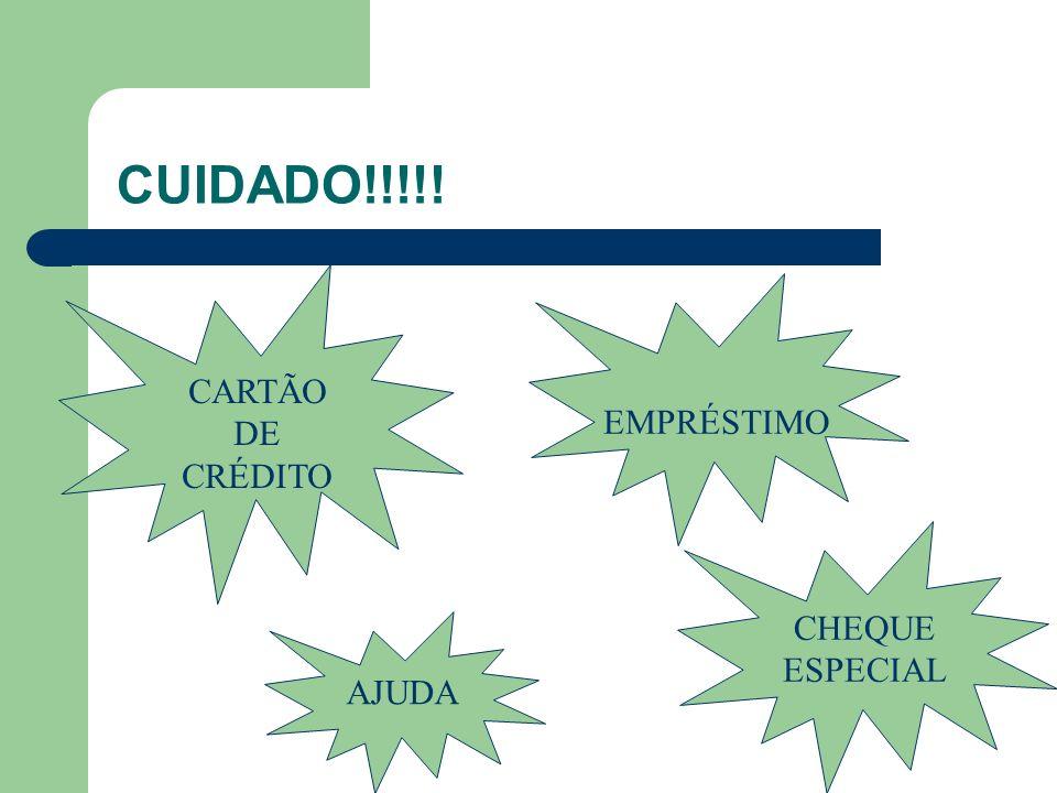 CUIDADO!!!!! CARTÃO DE CRÉDITO EMPRÉSTIMO CHEQUE ESPECIAL AJUDA