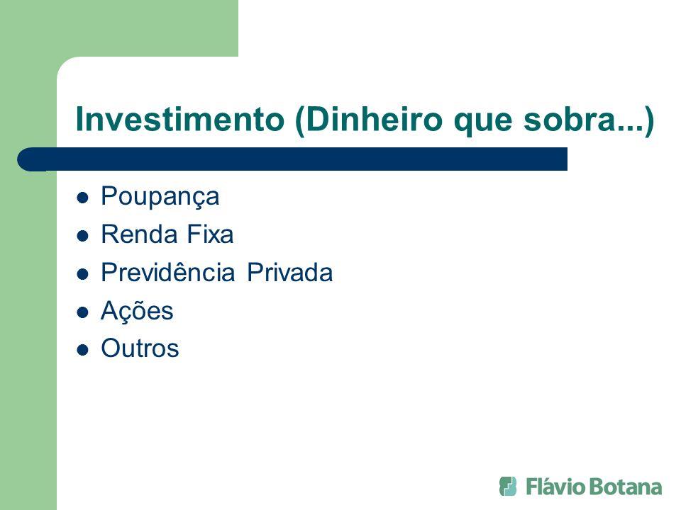 Investimento (Dinheiro que sobra...)