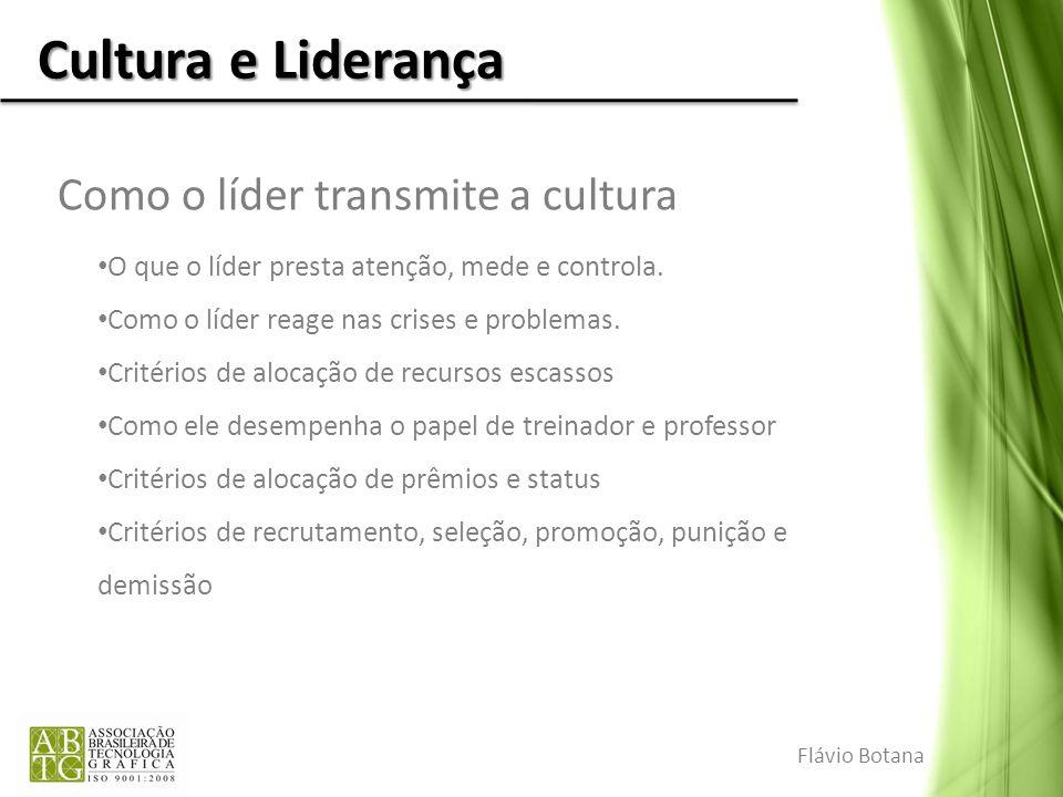 Como o líder transmite a cultura