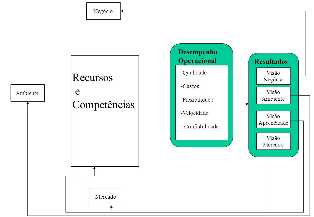 Recursos e Competências Desempenho Operacional Resultados Negócio