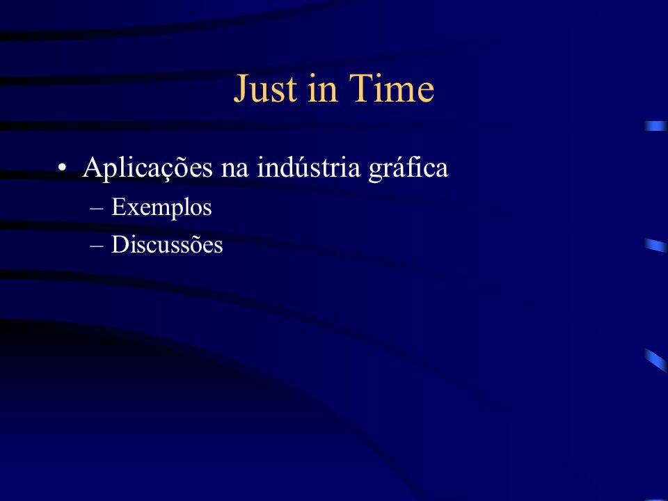 Just in Time Aplicações na indústria gráfica Exemplos Discussões