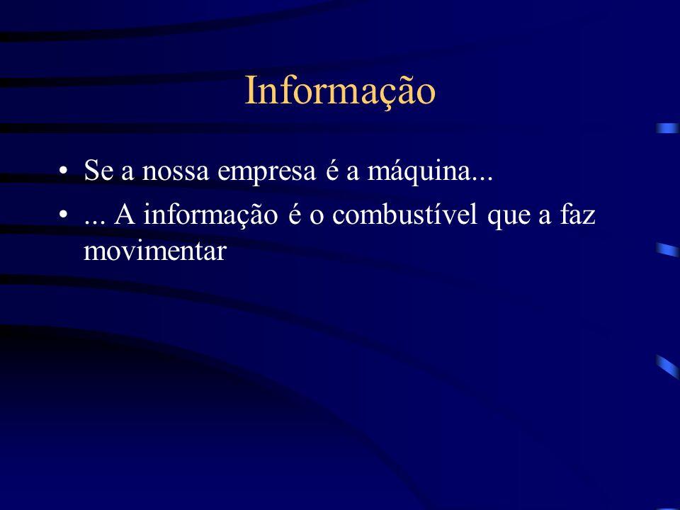 Informação Se a nossa empresa é a máquina...