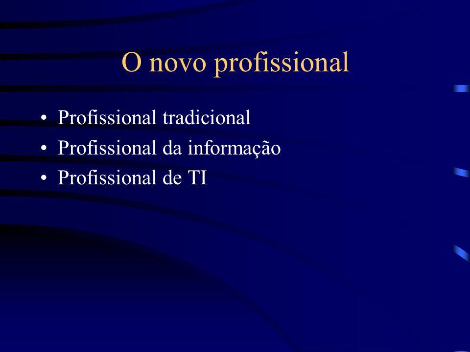 O novo profissional Profissional tradicional