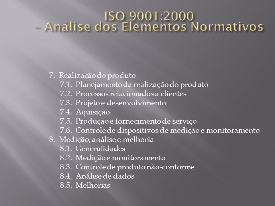 ISO 9001:2000 – Análise dos Elementos Normativos