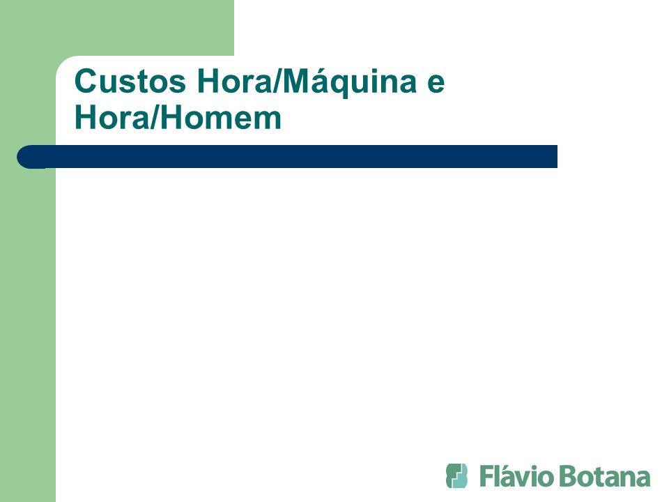 Custos Hora/Máquina e Hora/Homem