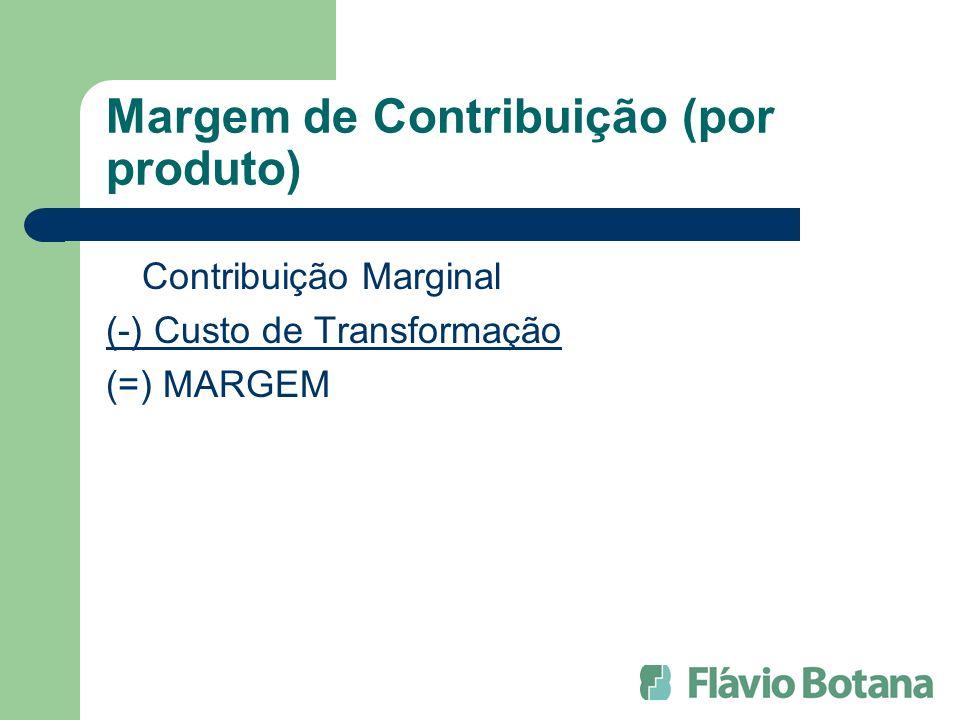 Margem de Contribuição (por produto)