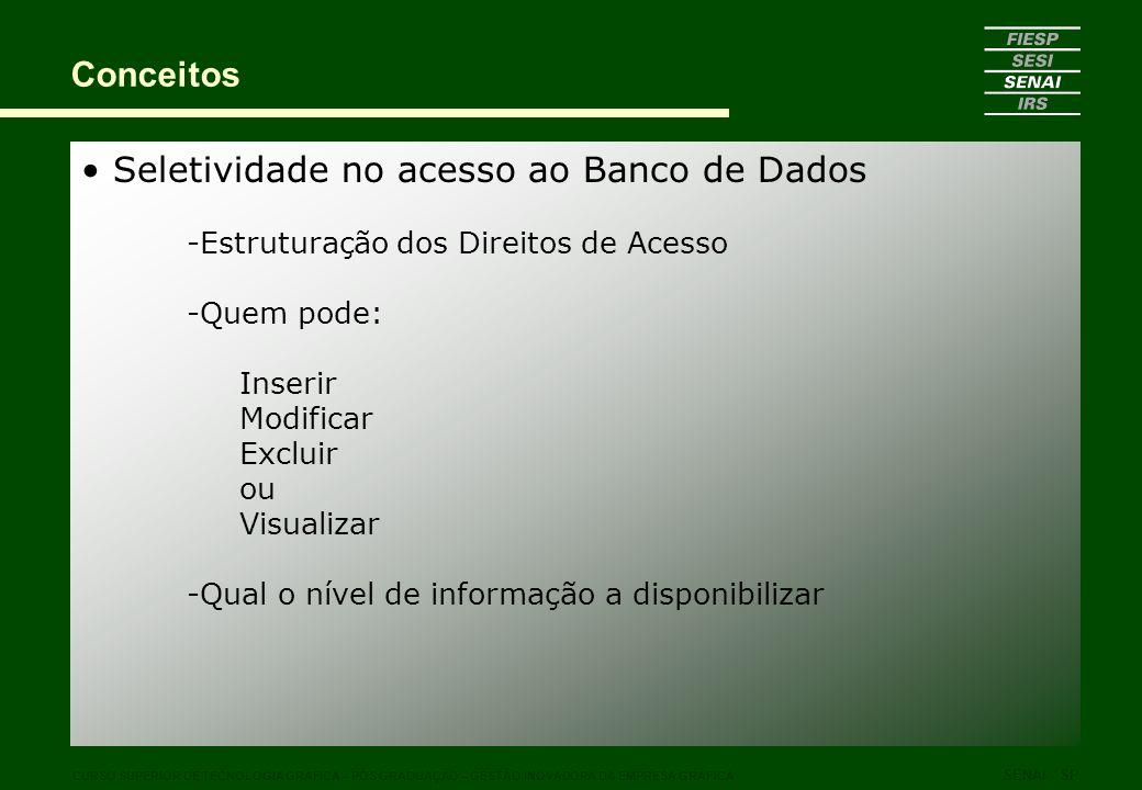 Seletividade no acesso ao Banco de Dados