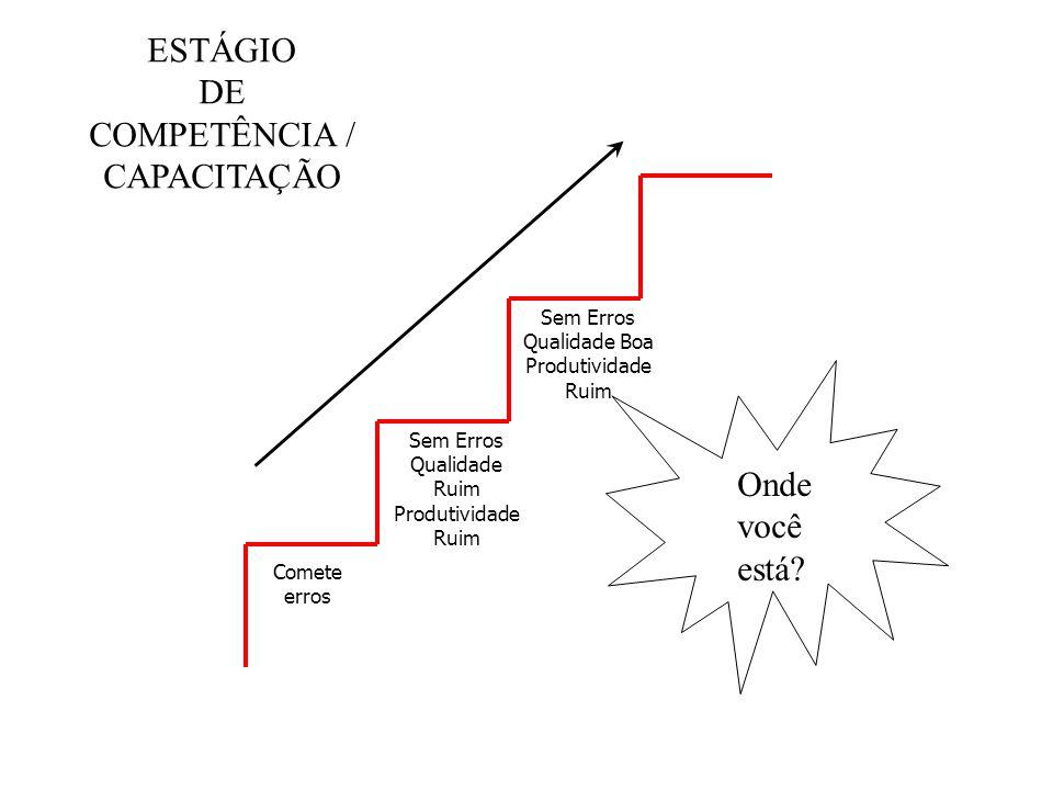 ESTÁGIO DE COMPETÊNCIA / CAPACITAÇÃO Onde você está Sem Erros