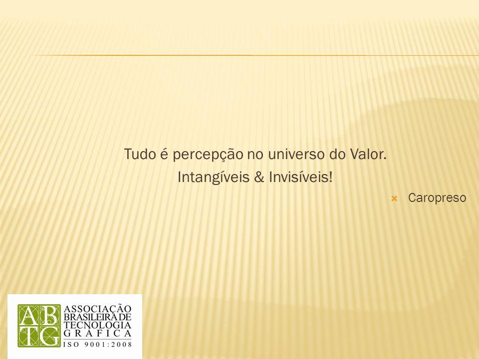 Tudo é percepção no universo do Valor. Intangíveis & Invisíveis!