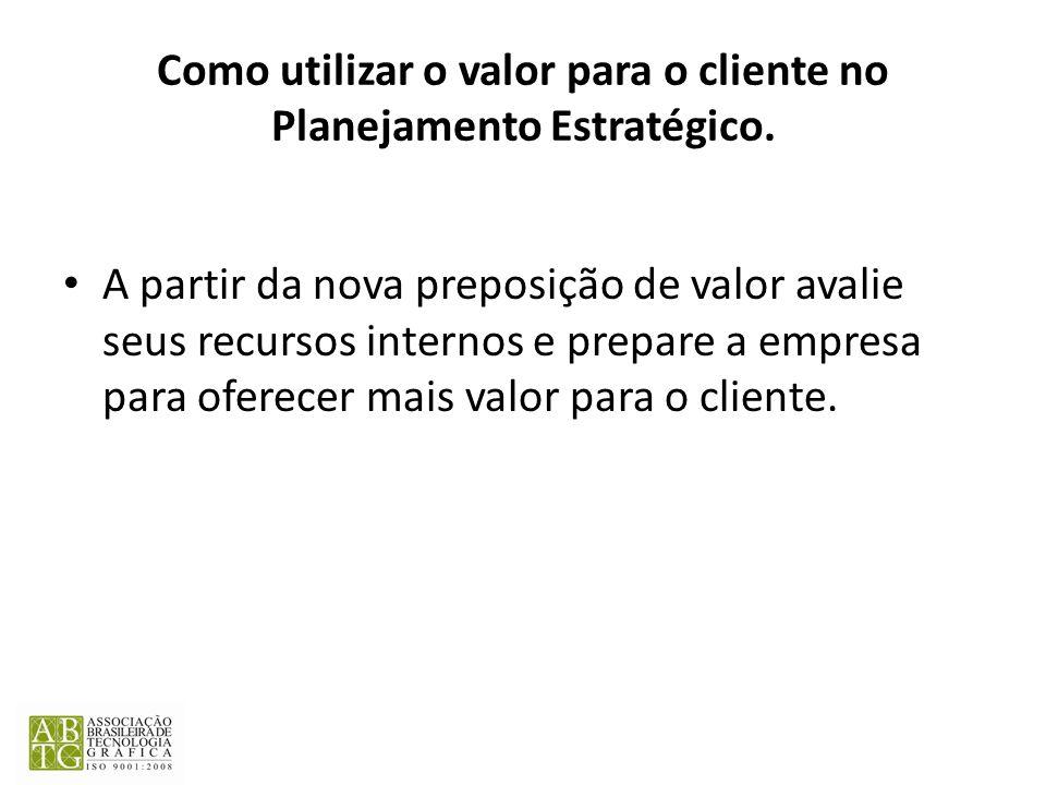 Como utilizar o valor para o cliente no Planejamento Estratégico.