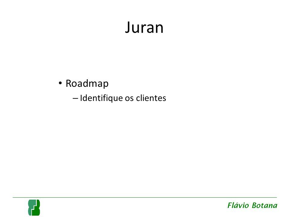 Juran Roadmap Identifique os clientes Flávio Botana
