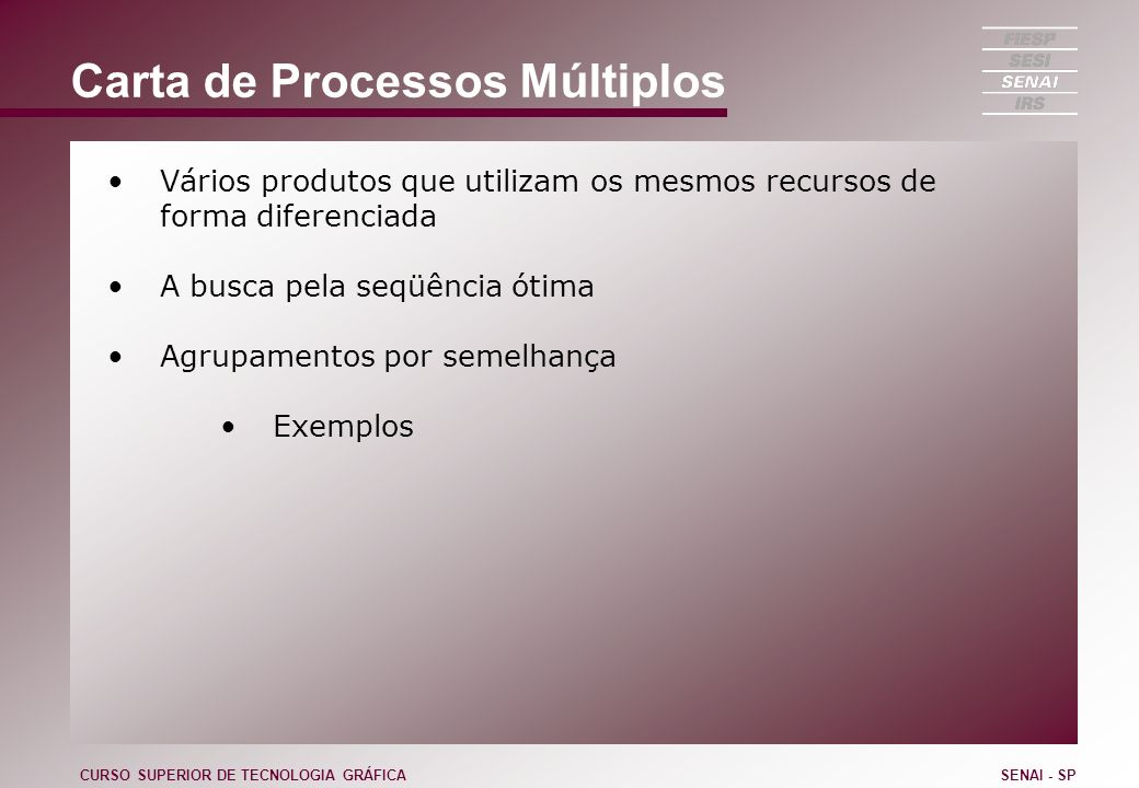 Carta de Processos Múltiplos