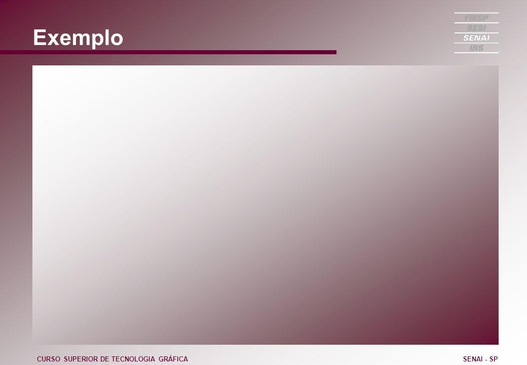 Exemplo CURSO SUPERIOR DE TECNOLOGIA GRÁFICA SENAI - SP