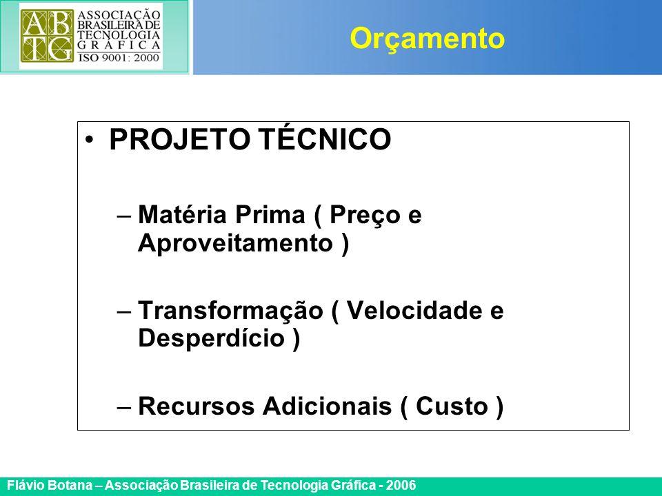 Orçamento PROJETO TÉCNICO Matéria Prima ( Preço e Aproveitamento )
