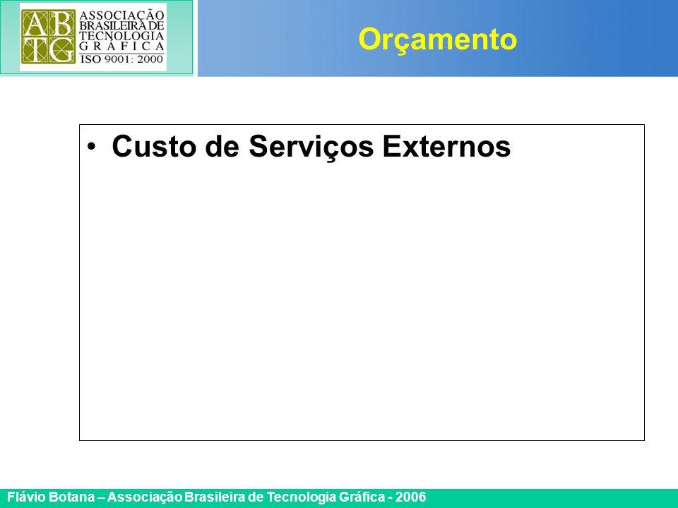 Orçamento Custo de Serviços Externos