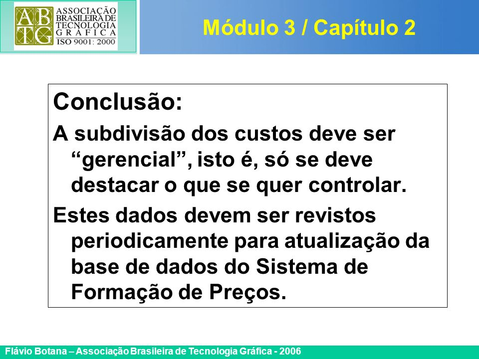 Conclusão: Módulo 3 / Capítulo 2