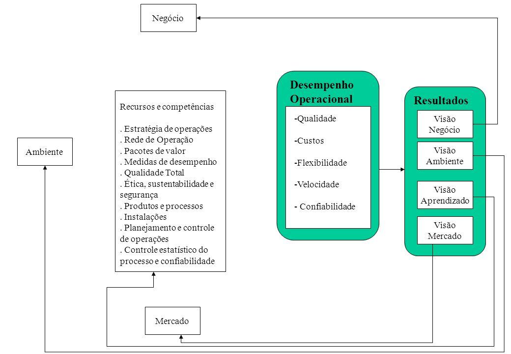 Desempenho Operacional Resultados Negócio Recursos e competências