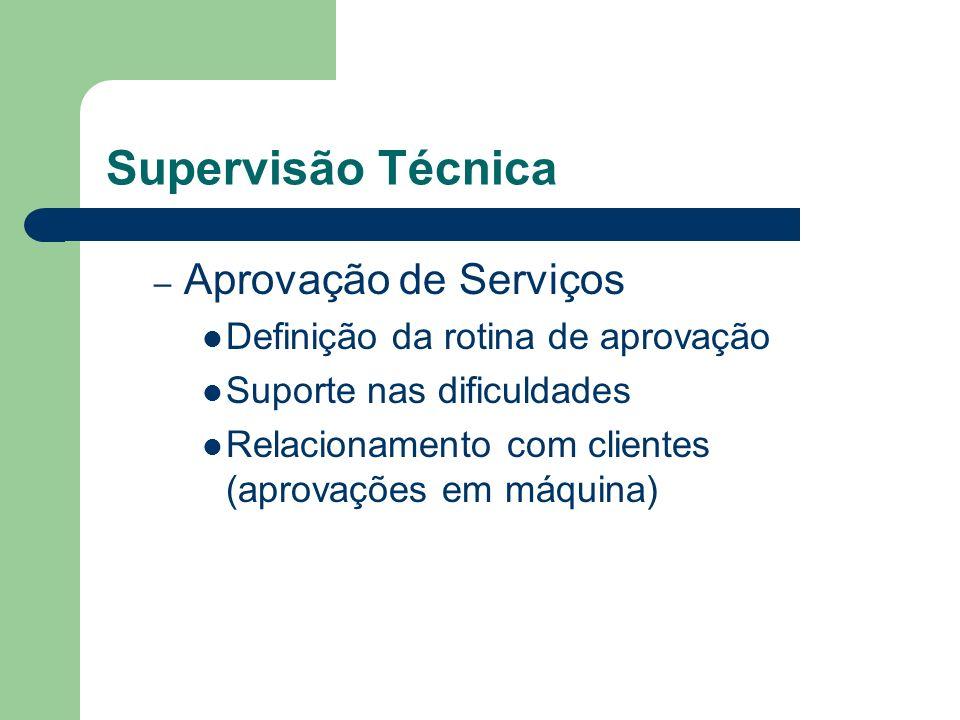 Supervisão Técnica Aprovação de Serviços