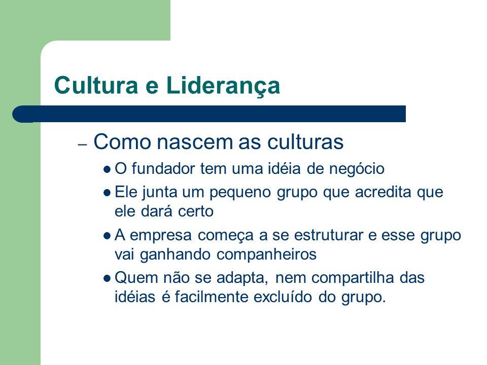 Cultura e Liderança Como nascem as culturas