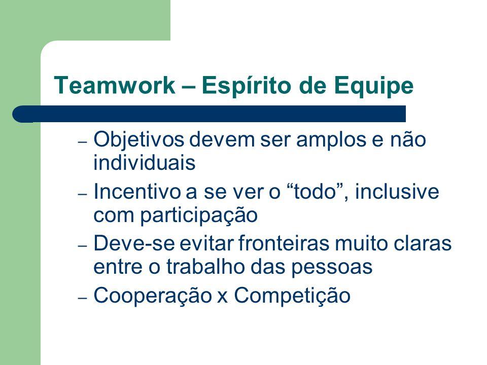 Teamwork – Espírito de Equipe