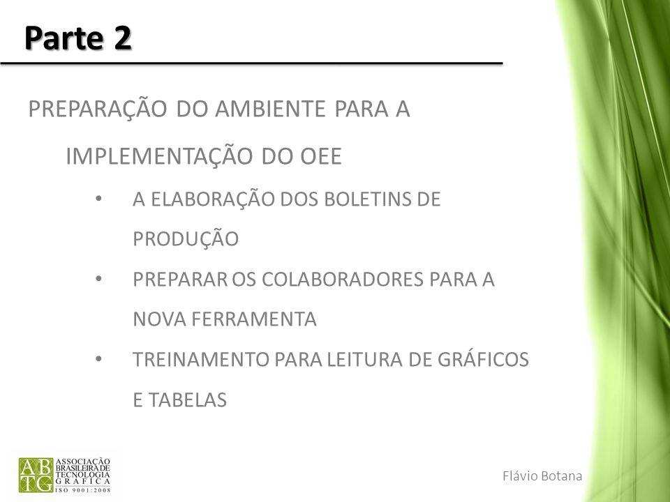 Parte 2 PREPARAÇÃO DO AMBIENTE PARA A IMPLEMENTAÇÃO DO OEE