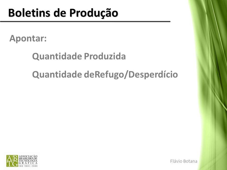 Boletins de Produção Apontar: Quantidade Produzida
