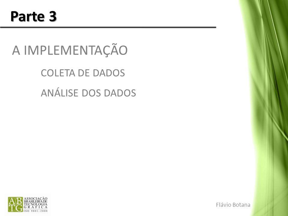 Parte 3 A IMPLEMENTAÇÃO COLETA DE DADOS ANÁLISE DOS DADOS