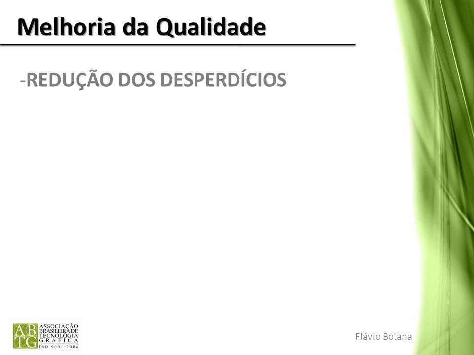Melhoria da Qualidade REDUÇÃO DOS DESPERDÍCIOS Flávio Botana