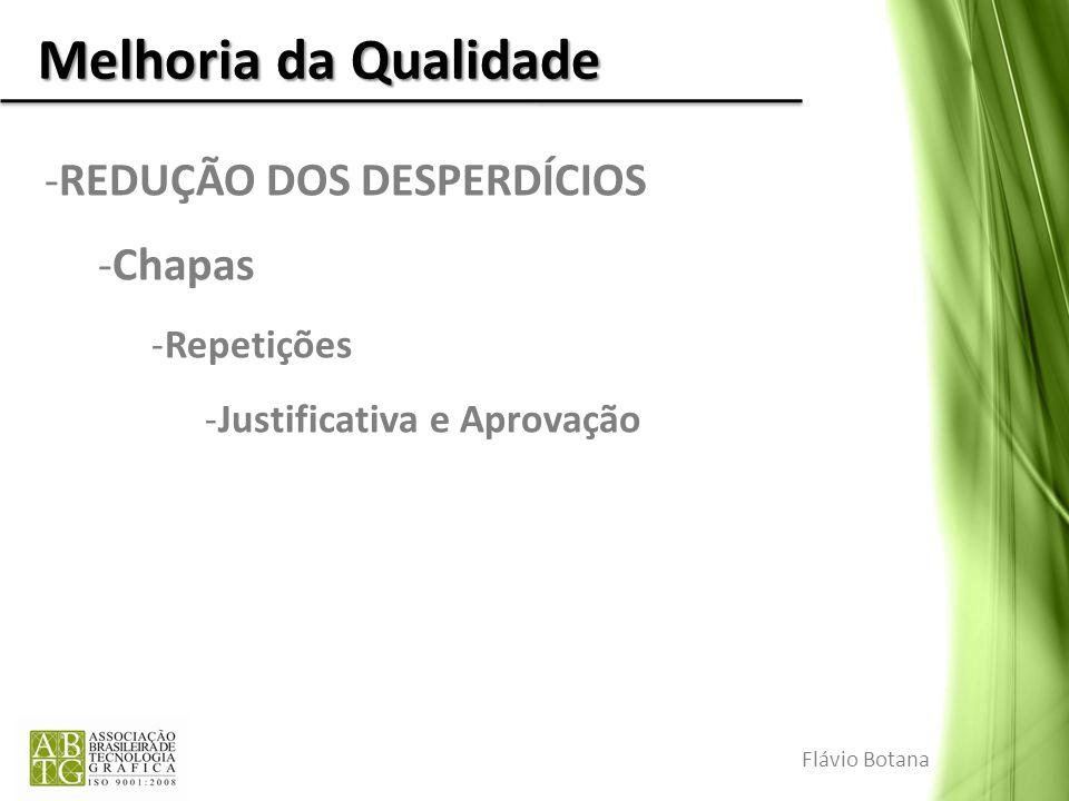 Melhoria da Qualidade REDUÇÃO DOS DESPERDÍCIOS Chapas Repetições
