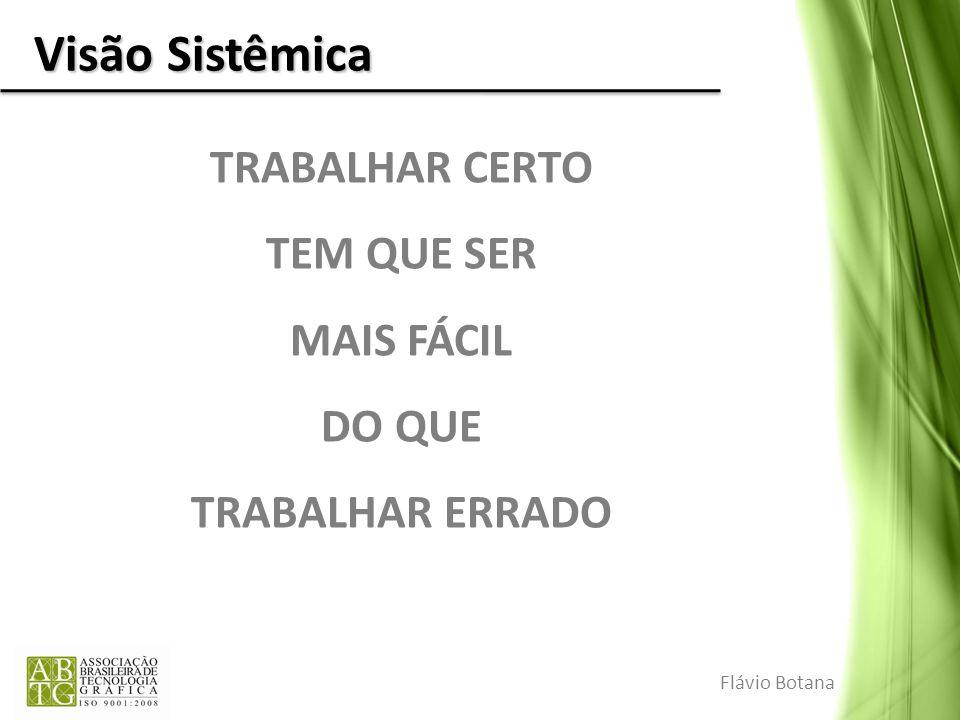 Visão Sistêmica TRABALHAR CERTO TEM QUE SER MAIS FÁCIL DO QUE