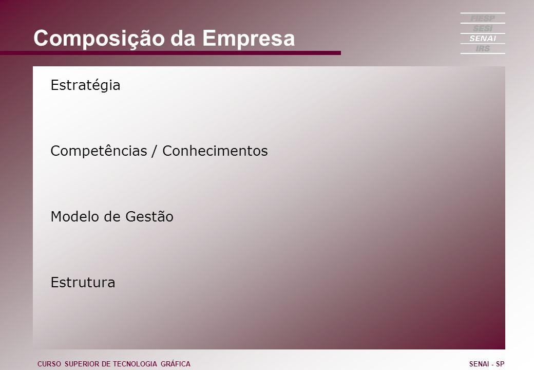 Composição da Empresa Estratégia Competências / Conhecimentos