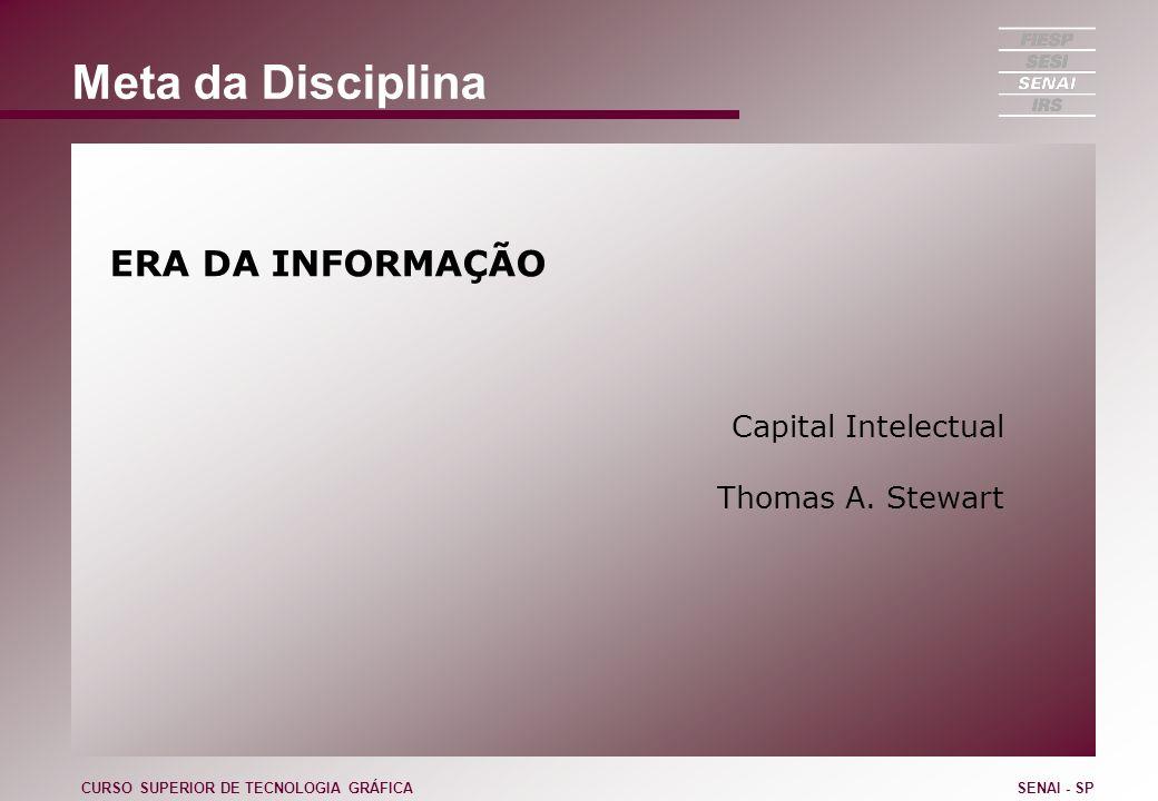 Meta da Disciplina ERA DA INFORMAÇÃO Capital Intelectual