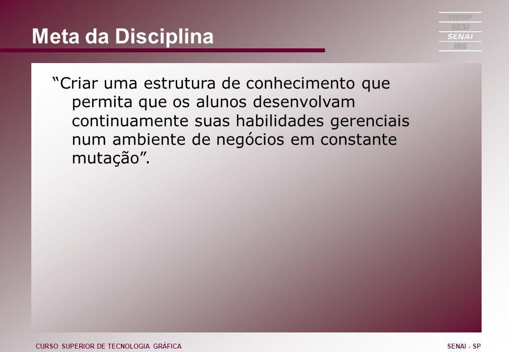Meta da Disciplina