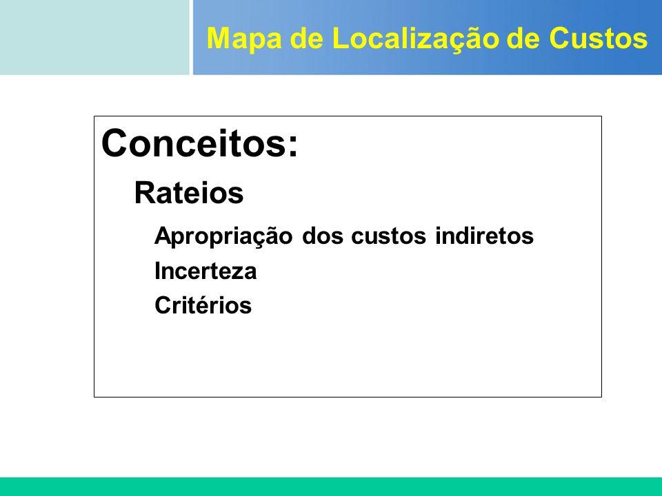 Mapa de Localização de Custos