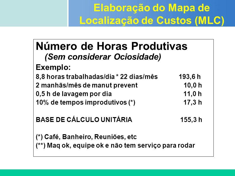 Elaboração do Mapa de Localização de Custos (MLC)